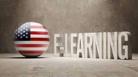 United States High Resolution E-Learning  Concept photo