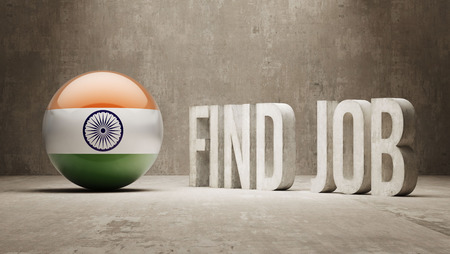 India High Resolution Find Job  Concept photo