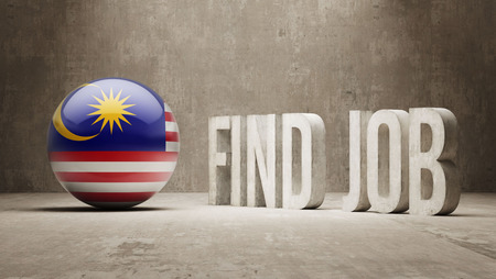 Malaysia High Resolution Find Job  Concept photo