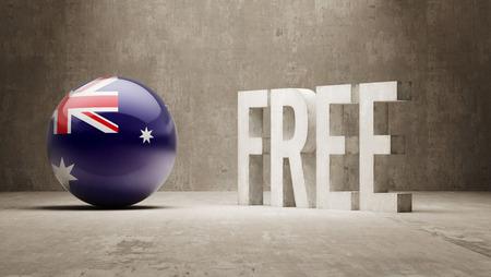 gratuity: Australia High Resolution Free  Concept