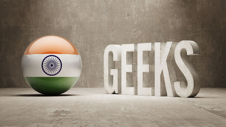 India High Resolution Geeks  Concept photo