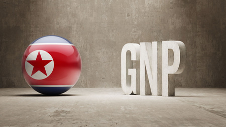North Korea High Resolution GNP  Concept photo
