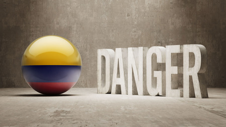 risky: Colombia High Resolution Danger  Concept