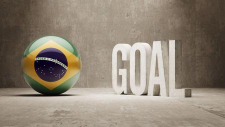 Brazil High Resolution Goal Concept Imagens
