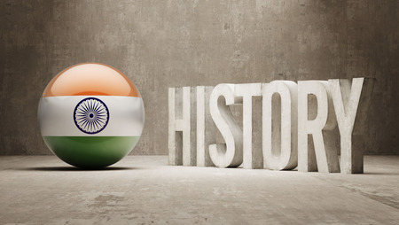 India High Resolution History  Concept photo