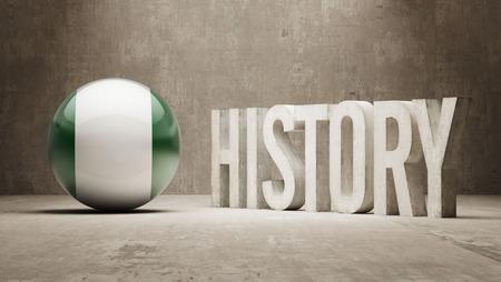 ナイジェリアの高解像度の歴史の概念
