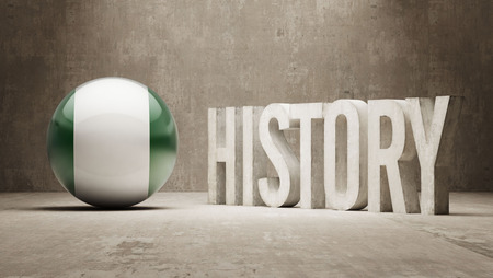 Nigeria hoge resolutie Geschiedenis Concept Stockfoto