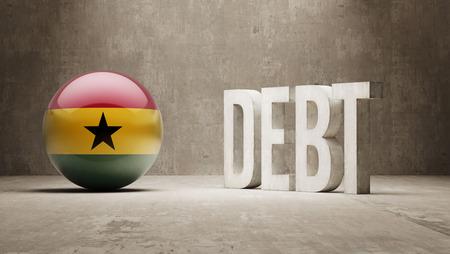 subprime: Ghana High Resolution Debt  Concept Stock Photo