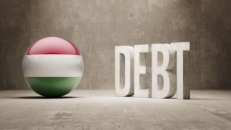 subprime mortgage crisis: Hungary High Resolution Debt  Concept