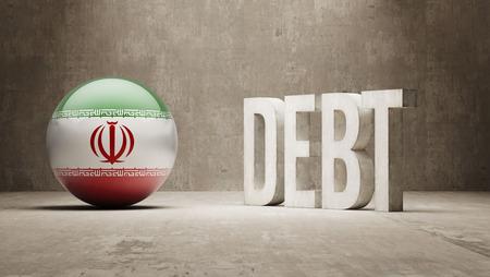subprime mortgage crisis: Iran High Resolution Debt  Concept