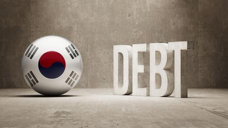 subprime: South Korea High Resolution Debt  Concept Stock Photo