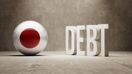 subprime: Japan High Resolution Debt  Concept Stock Photo