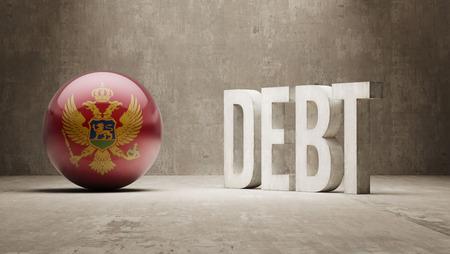 subprime mortgage crisis: Montenegro High Resolution Debt  Concept