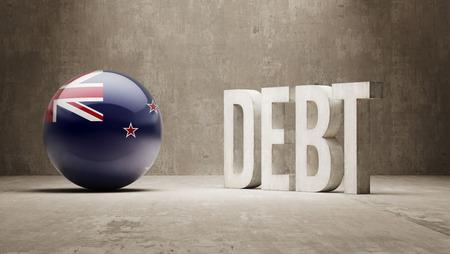 New Zealand High Resolution Debt  Concept