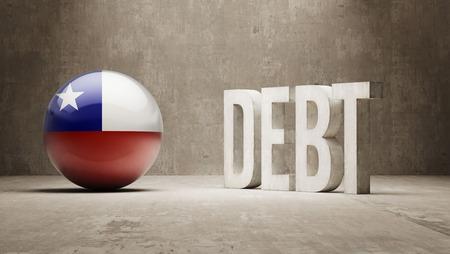 subprime mortgage crisis: Chile High Resolution Debt  Concept
