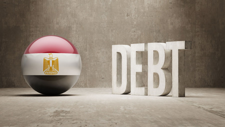 Egypt High Resolution Debt  Concept photo