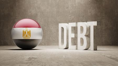 subprime: Egypt High Resolution Debt  Concept Stock Photo