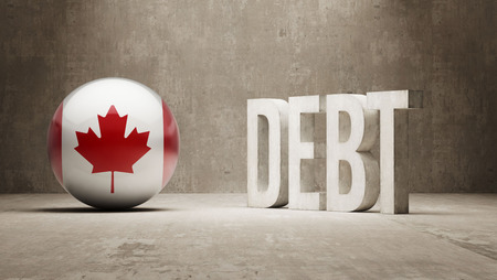 subprime mortgage crisis: Canada High Resolution Debt  Concept