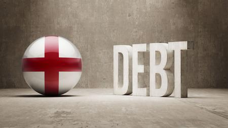subprime: England High Resolution Debt  Concept Stock Photo
