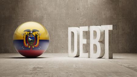 Ecuador High Resolution Debt  Concept