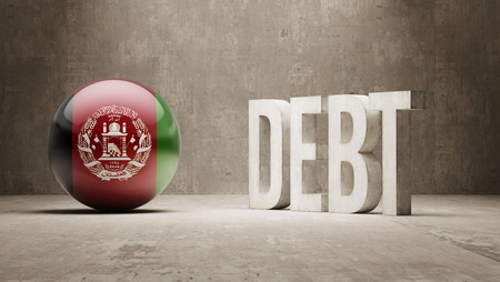 subprime mortgage crisis: Afghanistan High Resolution Debt  Concept Stock Photo
