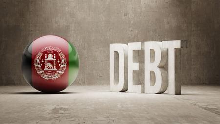 subprime: Afghanistan High Resolution Debt  Concept Stock Photo