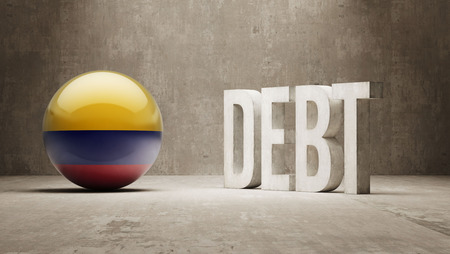 subprime mortgage crisis: Colombia High Resolution Debt  Concept