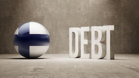 subprime: Finland High Resolution Debt  Concept
