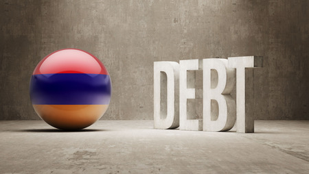 Armenia High Resolution Debt  Concept