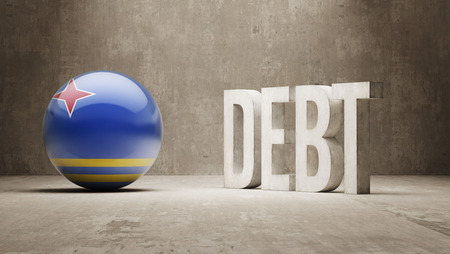 subprime mortgage crisis: Aruba High Resolution Debt  Concept