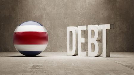 subprime: Costa Rica High Resolution Debt  Concept