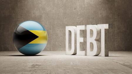 subprime: Bahamas High Resolution Debt  Concept