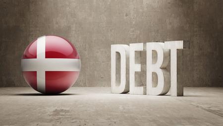 subprime mortgage crisis: Denmark High Resolution Debt  Concept