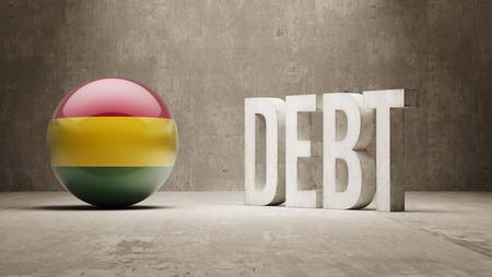 subprime: Bolivia High Resolution Debt  Concept