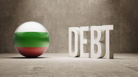subprime: Bulgaria High Resolution Debt  Concept