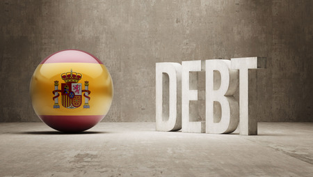 Spain High Resolution Debt  Concept photo