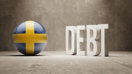 subprime: Sweden High Resolution Debt  Concept