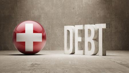 subprime: Switzerland High Resolution Debt  Concept
