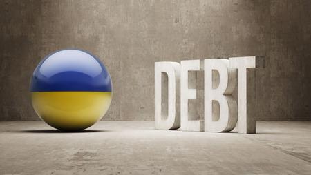 subprime mortgage crisis: Ukraine High Resolution Debt  Concept