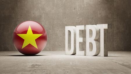 subprime: Vietnam High Resolution Debt  Concept Stock Photo