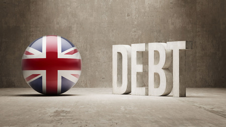 subprime mortgage crisis: United Kingdom High Resolution Debt  Concept Stock Photo