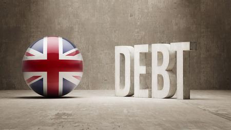 United Kingdom High Resolution Debt  Concept Stock Photo