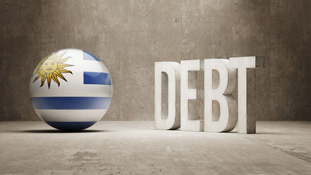 Uruguay High Resolution Debt  Concept