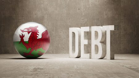 subprime mortgage crisis: Wales High Resolution Debt  Concept