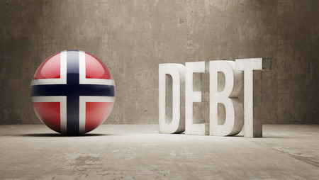 subprime mortgage crisis: Norway High Resolution Debt  Concept
