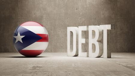 subprime: Puerto Rico High Resolution Debt  Concept