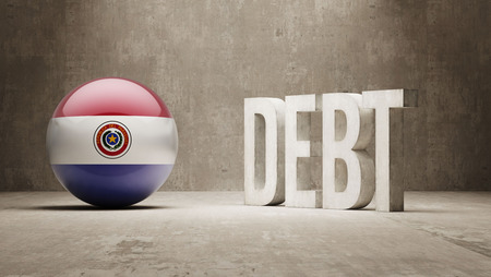 subprime mortgage crisis: Paraguay High Resolution Debt  Concept Stock Photo