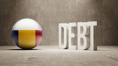 subprime mortgage crisis: Romania High Resolution Debt  Concept