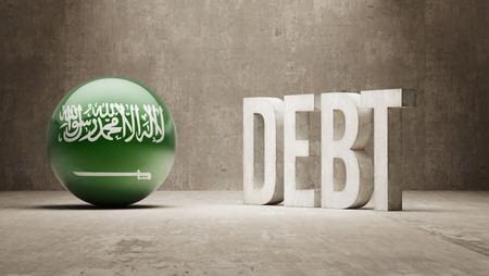subprime mortgage crisis: Saudi Arabia High Resolution Debt  Concept