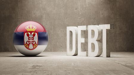 Serbia High Resolution Debt  Concept
